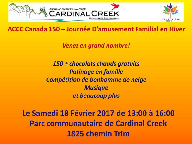 ACCC Canada 150 – Journée D'amusement Familial en Hiver