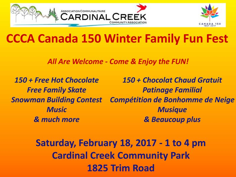 CCCA Canada 150 Winter Family Fun Fest